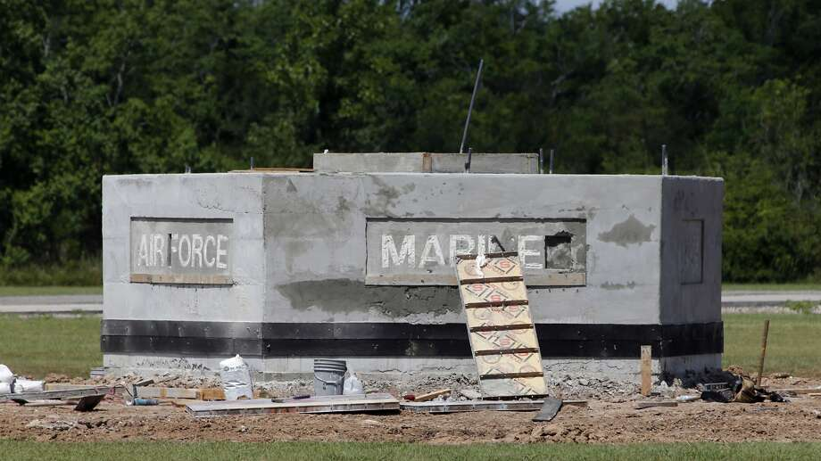 Errors on a monument to U.S. armed services are being corrected, said Fort Bend County Commissioner Andy Meyers. Photo: James Nielsen, Houston Chronicle
