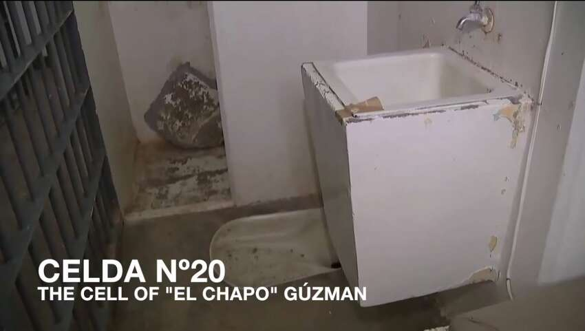 In a video recently released by Mexican law enforcement, the world is given a look inside the cell of Mexico's once again most wanted criminal. While El Chapo's worth at the helm of the Sinaloa Cartel was reported to be approximately $1 billion, his cell at the Altiplano prison is less than glamorous.