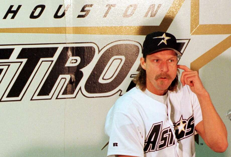 51381f941df PHOTOS  The best mullets and moustaches in Houston Astros historyRandy  Johnson
