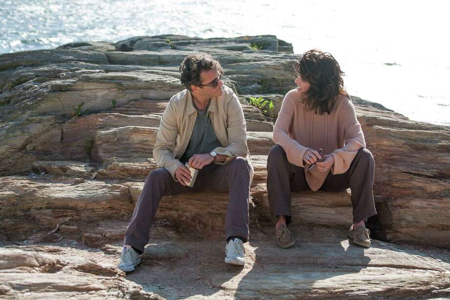 """Joaquin Phoenix as Abe and Parker Posey as Rita in """"Irrational Man"""" WASP_DAY_15-0736.CR2 Photo: Sabrina Lantos / W.A.S.P. 2014"""