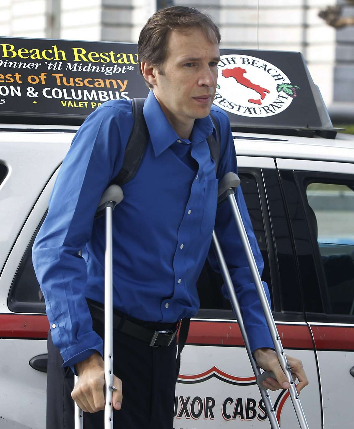 Stephen Findley arrives at San Francisco Superior Court on McAllister Street for the third day of testimony in a trial against his ex-wife Mimi Lee involving custody of their frozen embryos in San Francisco, Calif. on Wednesday, July 15, 2015.