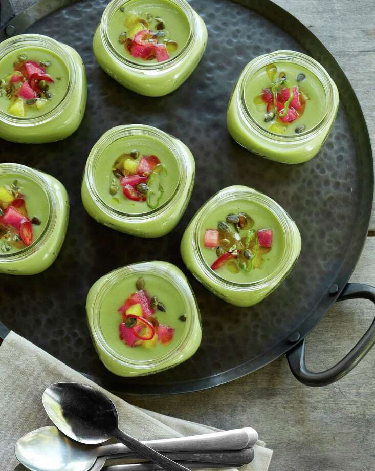 Cucumber Gazpacho with Watermelon and Mint makes for a most refreshing summertime soup. Photo: Con Poulos /Country Living