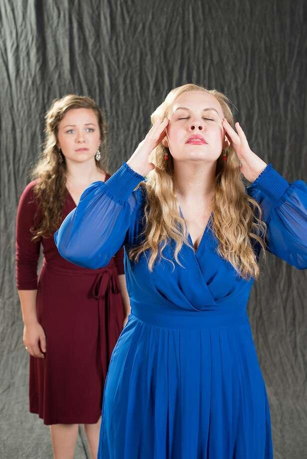 """Madison Leonard (left) and Nicole Woodward in """"The Medium."""" Photo: Kristen Loken"""