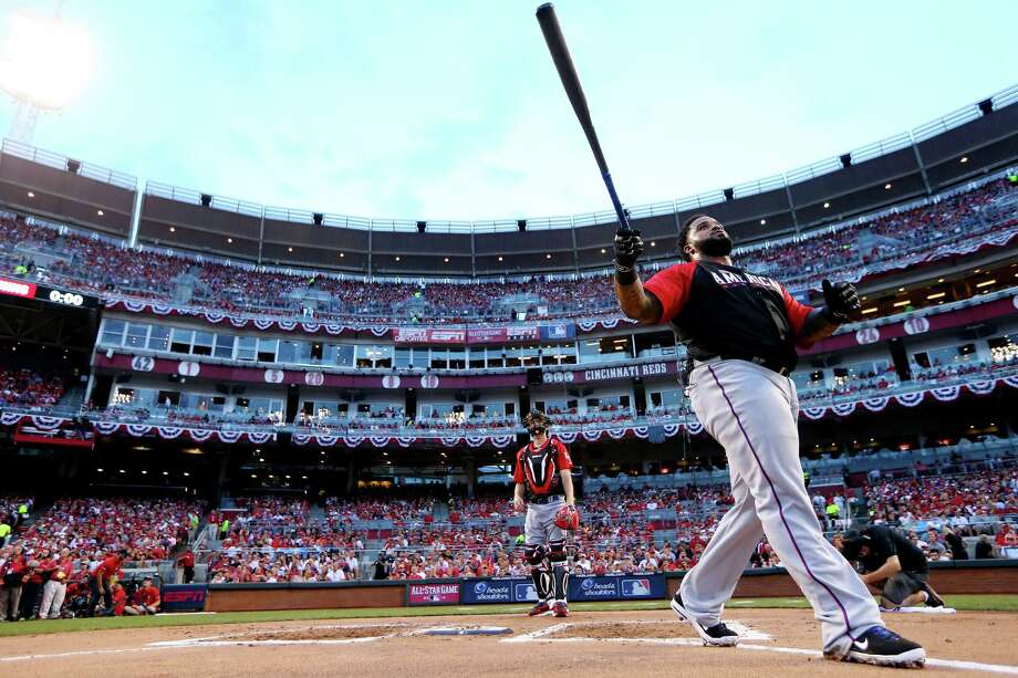 American League All-Star Prince Fielder #84 of the Texas Rangers bats during the Gillette Home Run Derby presented by Head & Shoulders at the Great American Ball Park on July 13, 2015 in Cincinnati, Ohio. Photo: Elsa /Getty Images / 2015 Getty Images