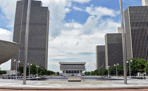 The Empire State Plaza looking south toward the State Museum Tuesday July 14, 2015 in Albany, NY.  (John Carl D'Annibale / Times Union) Photo: John Carl D'Annibale, Albany Times Union