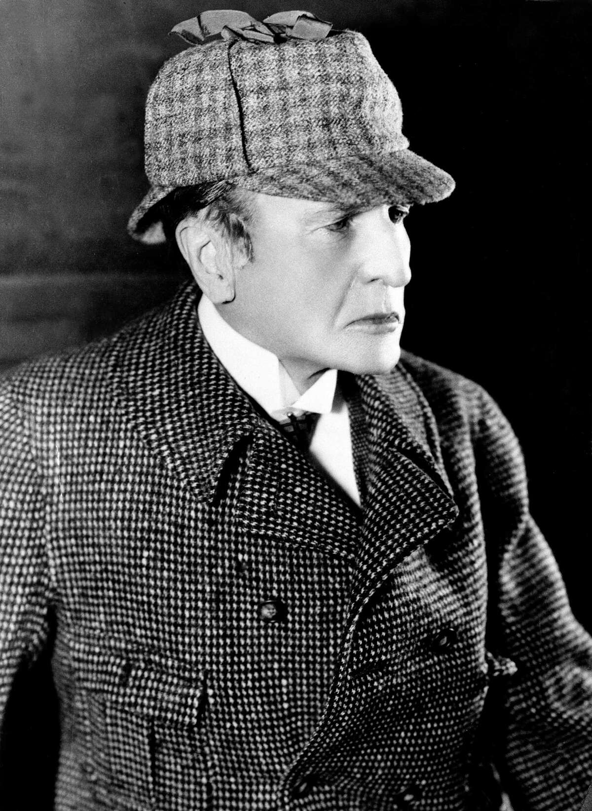 American actor and playwright William Gillette is shown as Sherlock Holmes in this undated photo. (AP Photo) HOUCHRON CAPTION (10/09/2003): ACTOR WILLIAM GILLETTE ADAPTED THREE SHERLOCK HOLMES STORIES INTO THE 1899 PLAY THAT THE ALLEY THEATRE WILL PRESENT. GILLETTE HIMSELF STARRED IN NUMEROUS PRODUCTIONS.