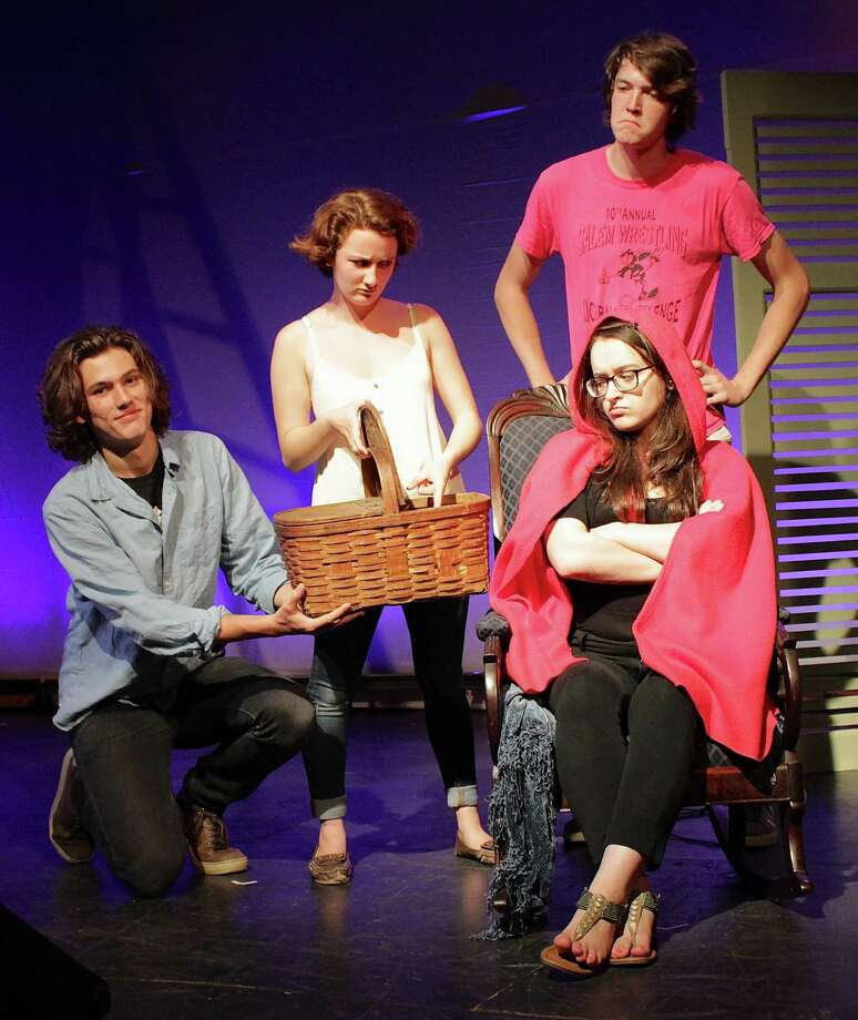 "Wilson Padgett, Katherine Skinner, Ben Phillips, Sara Curtis in ""Little Red Riding Hood"""