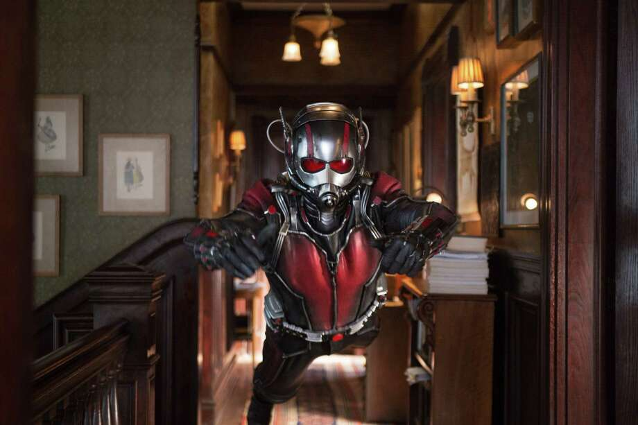 """This photo provided by Disney shows Paul Rudd as Scott Lang/Ant-Man in a scene from Marvel's """"Ant-Man."""" The film releases in the U.S. on July 17, 2015. (Zade Rosenthal/Disney/Marvel via AP) ORG XMIT: CAET329 Photo: Zade Rosenthal / Disney/Marvel"""
