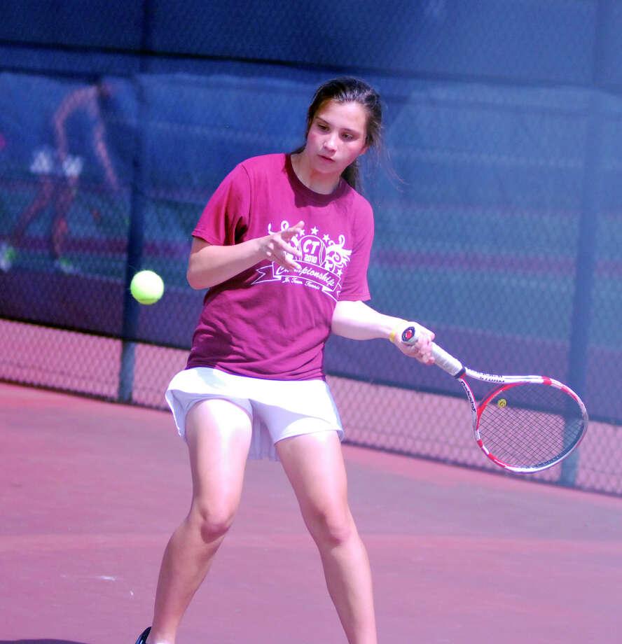 Darien's Kateri Martin is the Hearst Connecticut Media Girls Tennis MVP. Photo: Ryan Lacey / Hearst Connecticut Media / Westport News Contributed