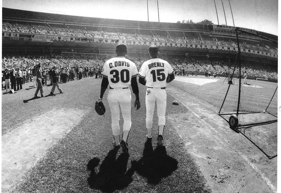 Giants Bob Brenly and Chili Davis at the 1984 All-Star Game held at Candlestick Park Photo: Frederic Larson, The Chronicle