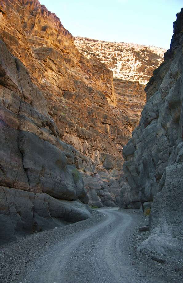 A narrow road winds through Titus Canyon. The road, dirt and barely a car wide in spots, is a back route into Death Valley National Park. Photo: Joshua Trudell, For The Express-News