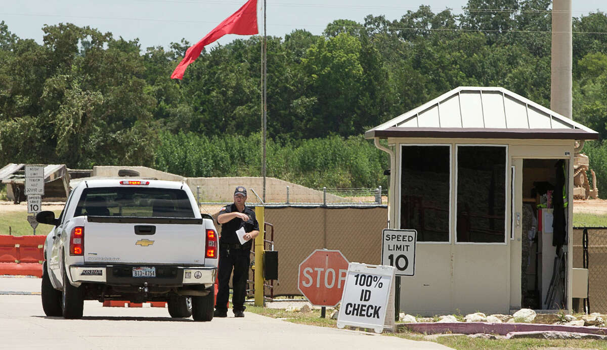Unauthorized civilians were turned away as they tried to drive onto Camp Swift in Bastrop, Texas, on the first day of the Operation Jade Helm 15 military exercise on Wednesday July 15, 2015.