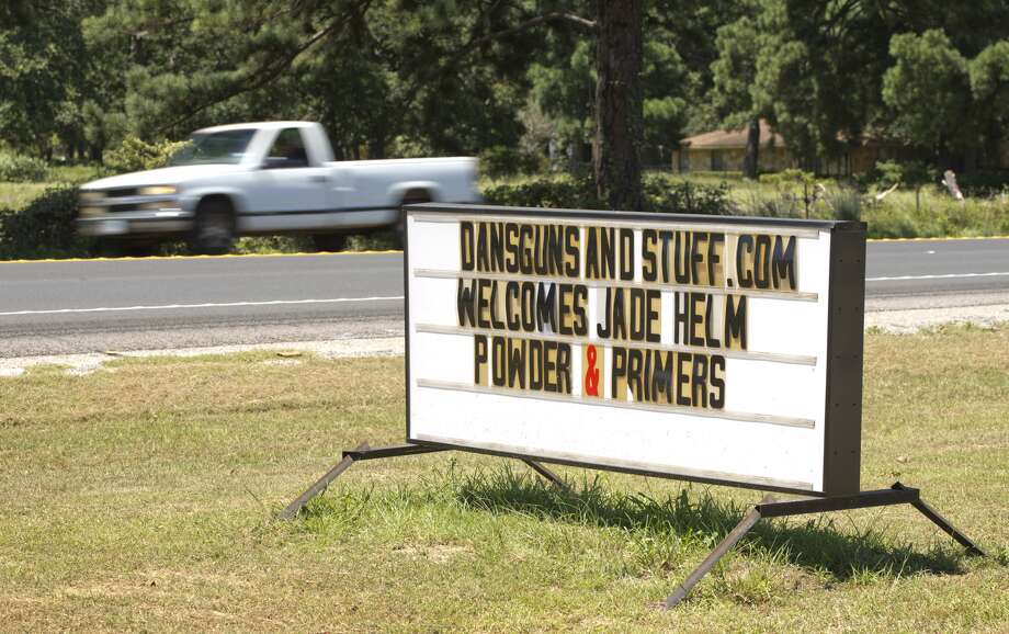 A sign at Dan's Guns and Stuff in Bastrop, Texas, welcomes Jade Helm on Wednesday July 15, 2015. Take a look back at the best Jade Helm conspiracy theories and a timeline of how the military exercise became the biggest conspiracy of the year. Photo: Jay Janner/Austin American-Statesma