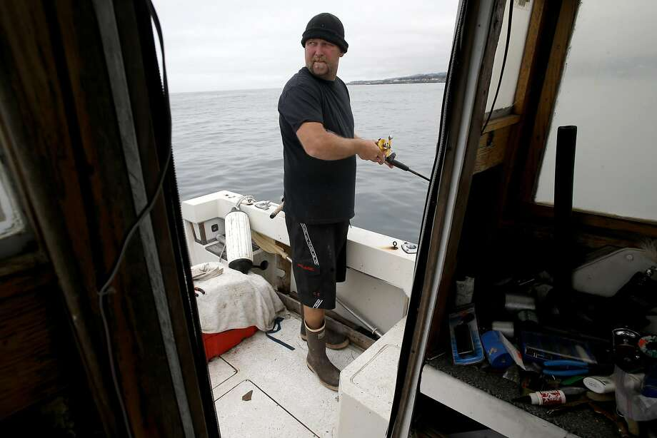 Chef-turned-fisherman Kevin Butler fishes for lingcod in the waters just a few miles out from the Santa Cruz Harbor. Photo: Michael Macor, The Chronicle