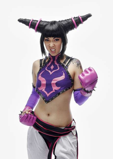 "Allison Fluty is seen as Juri Han from, ""Street Fighter IV."" Photo: Russell Yip, The Chronicle"