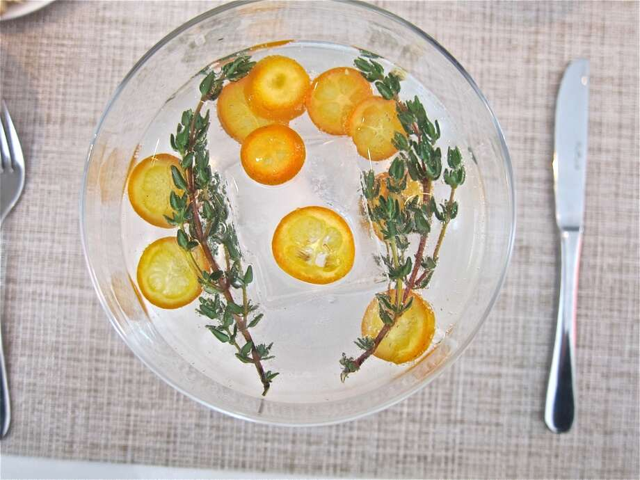 Brooklyn Gin, kumquat, orange blossom water and thyme go into the Kumquat Gin & Tonic at BCN. Photo: Alison Cook