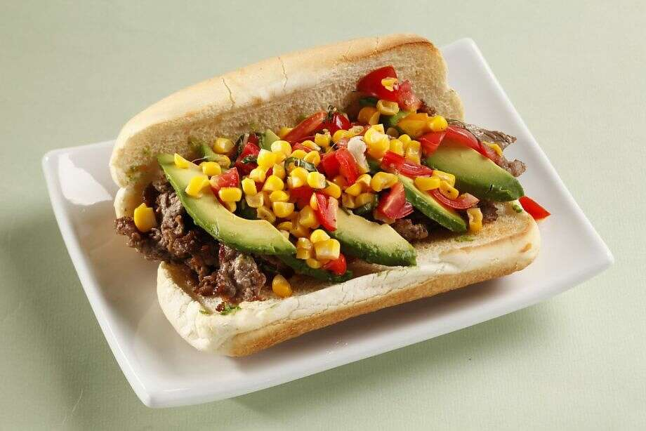 Steak Sandwich with Fresh Corn Relish Photo: Craig Lee /Special To The Chronicle