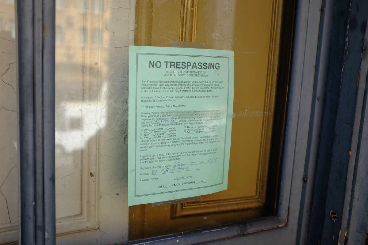The Old Mint: the ignored no-trespassing sign.