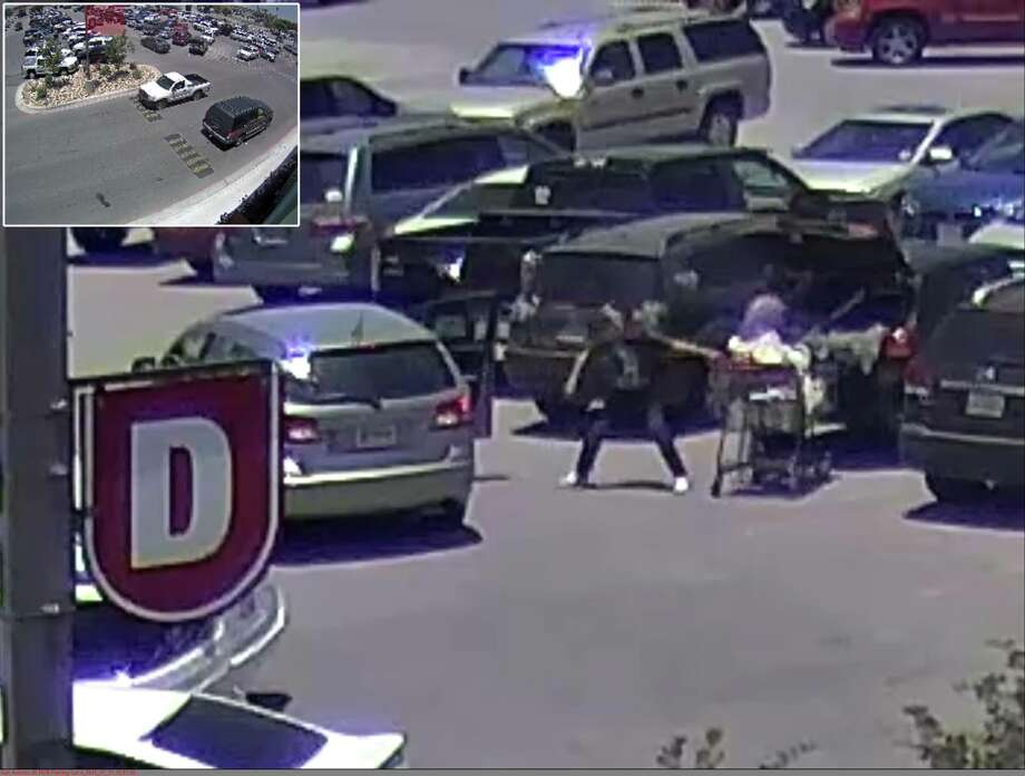 Schertz police said a woman in a Dodge Journey stole another person's purse in an H-E-B parking lot July 11. Photo: Schertz Police Department