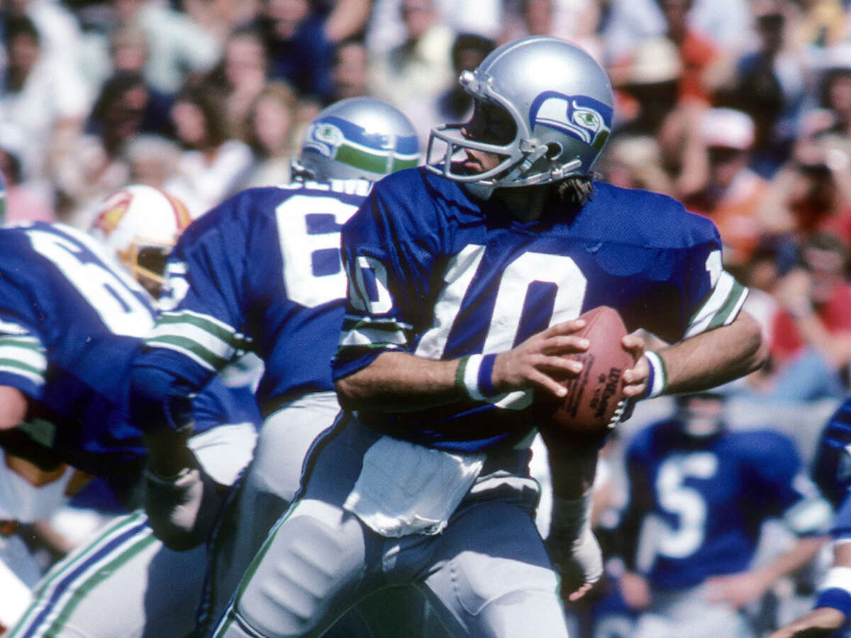 Oct. 16, 1976: Seahawks 13, at Tampa Bay Buccaneers 10 OK, fine. This low-scoring affair wasn't a classic by any means. What it was, was the first regular-season win in franchise history. Quarterback Jim Zorn (above) threw a 15-yard touchdown pass to wide receiver Sam McCullum less than two minutes into the second quarter for the game's only touchdown. That and two John Leypoldt field goals were enough to lift the Hawks over fellow expansion team Tampa Bay. Seattle would go on to win just one more game the entire season, finishing their inaugural campaign 2-12. Though they had some good moments through their first seven seasons -- including back-to-back 9-7 campaigns in 1978 and 1979 -- they wouldn't sniff the playoffs until Chuck Knox came to town.