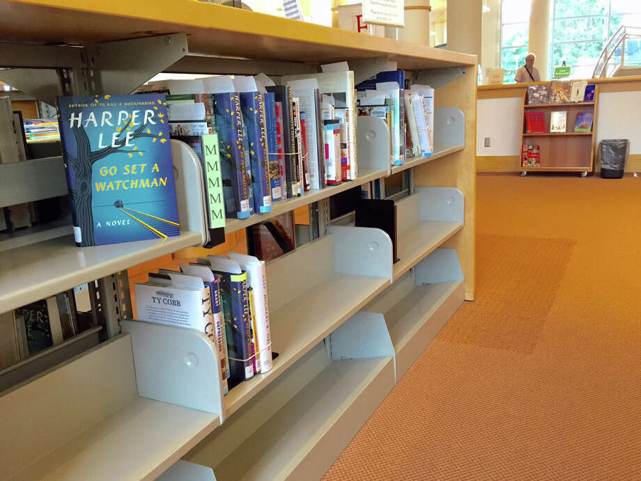 Greenwich Library has Harper Lee's new book prominently displayed on the shelves. Photo: Sylvia Foster-Frau / Hearst Connecticut Media / Greenwich Time