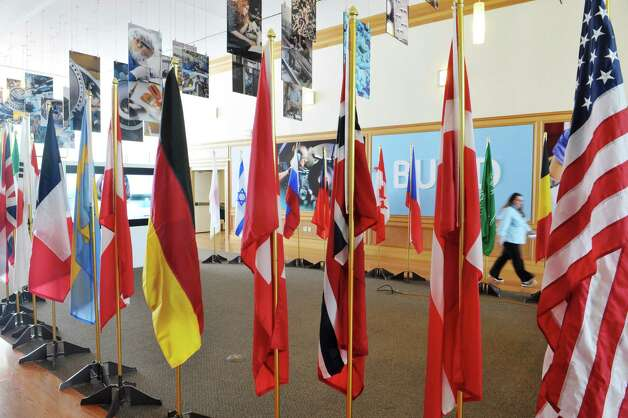 Flags from countries that are represented at the 2015 Industrial Internet Summer Conference at the GE Global Research Center on Wednesday, July 15, 2015, in Niskayuna, N.Y.   (Paul Buckowski / Times Union) Photo: PAUL BUCKOWSKI / 00032615A