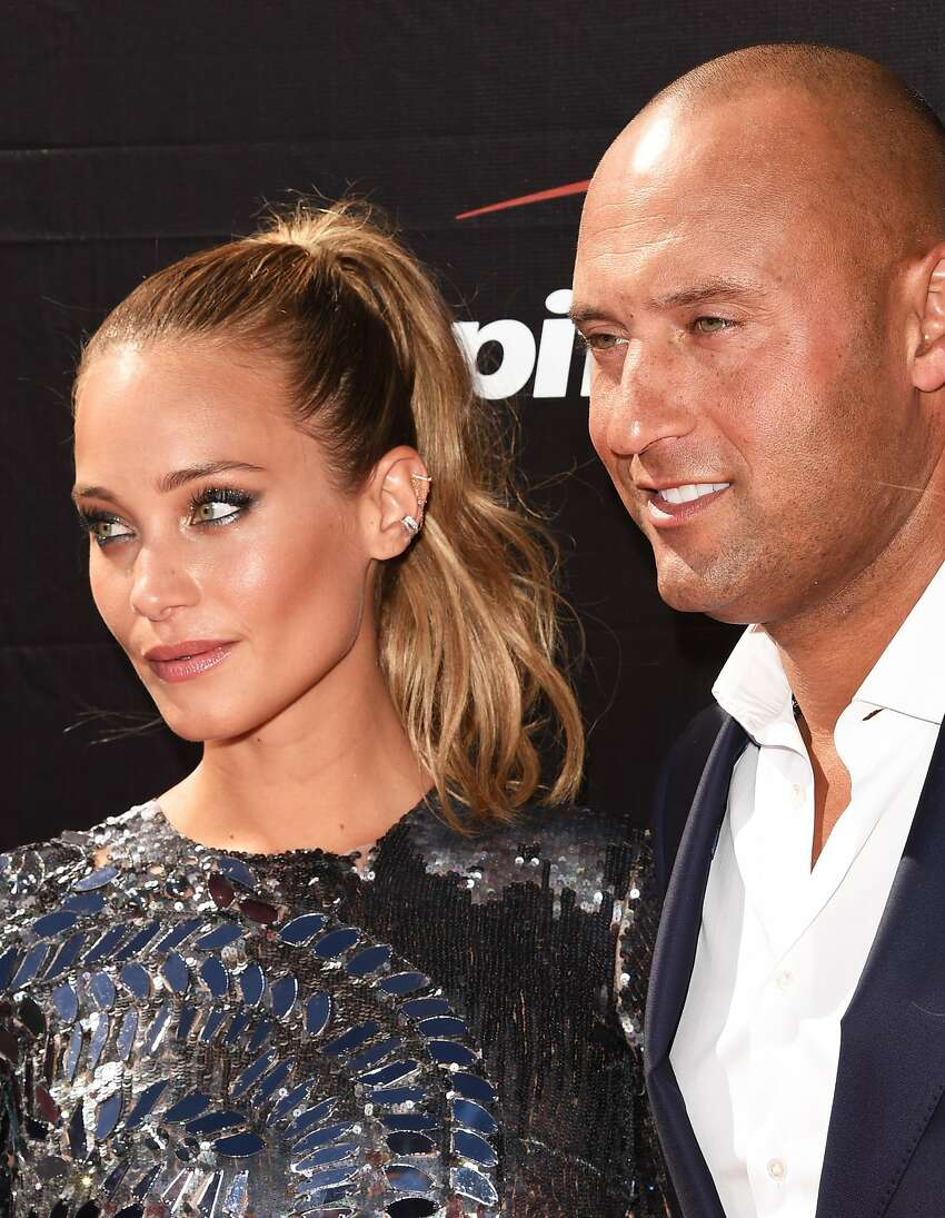 Model Hannah Davis with former MLB player Derek Jeter attend The 2015 ESPYS at Microsoft Theater on July 15, 2015 in Los Angeles, California.