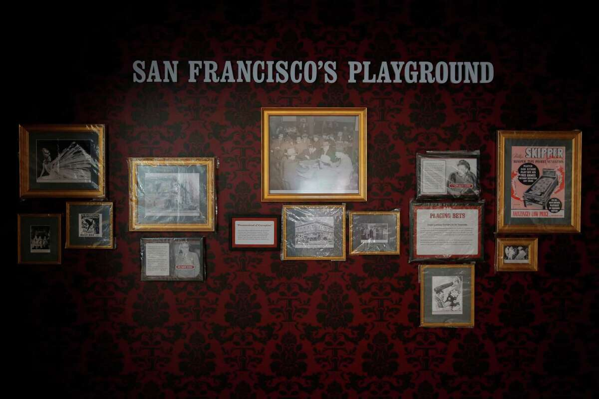 One of the exhibits with old photographs and placards at the new Tenderloin Museum in San Francisco, California, on Tuesday, July 14, 2015.