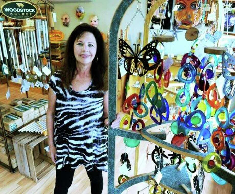 Leslie Cera has relocated her Mother Earth Gallery shop from Brookfield to a new home along Danbury Road (Route 7 South) in New Milford. July 2015 Photo: Carol Kaliff / The News-Times