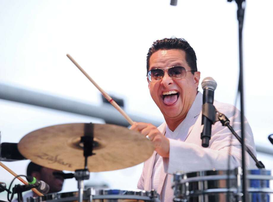 Tito Puente Jr., pictured here, and his Orchestra perform as part of the Jazz-Up July concert series in Columbus Park, Stamford, Conn., Wednesday night, Photo: Bob Luckey Jr., Hearst Connecticut Media / Greenwich Time