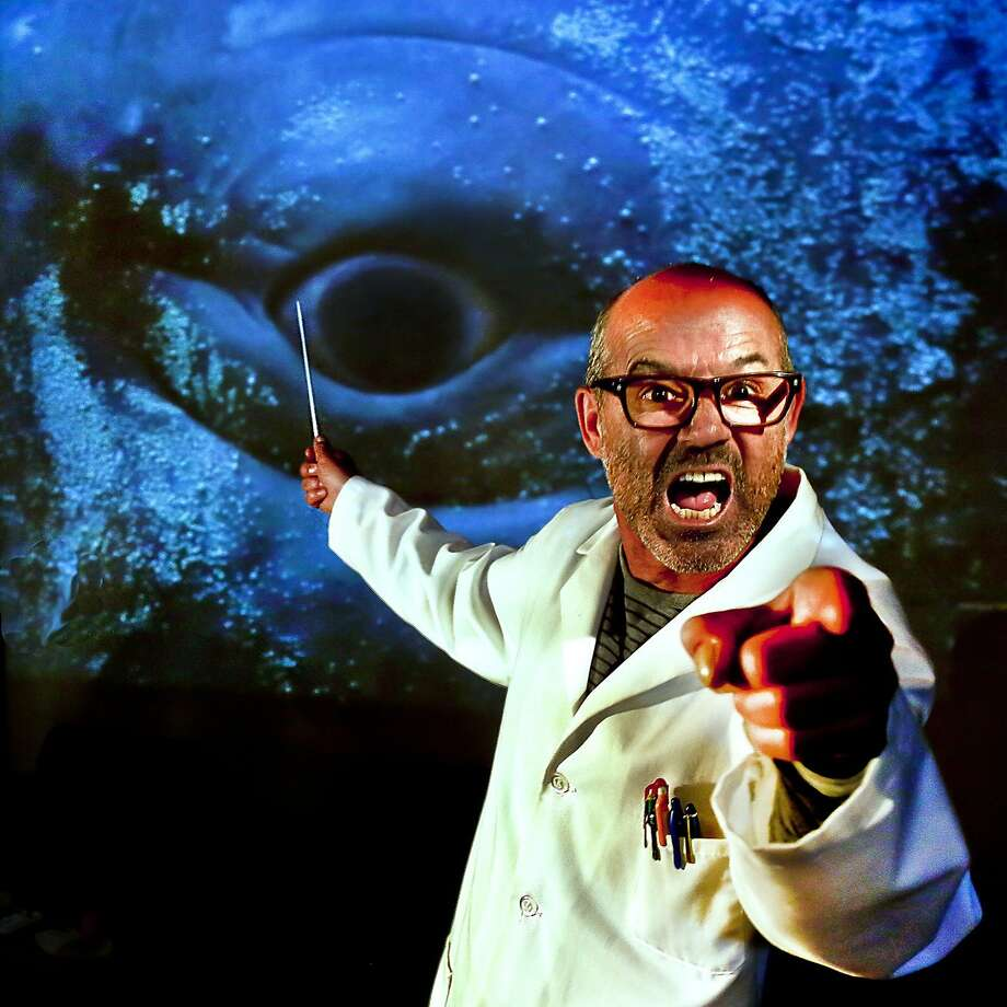 "Dr. Sponge (Clive Worsley) lectures on cetology in ""Project Ahab."" Photo: J. Norrena"