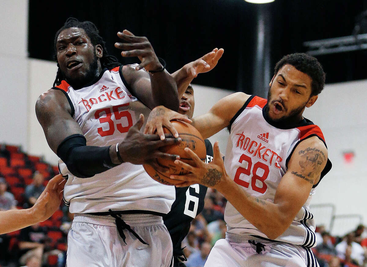 The Rockets' Montrezl Harrell (35) led the Rockets with 18 points Monday.