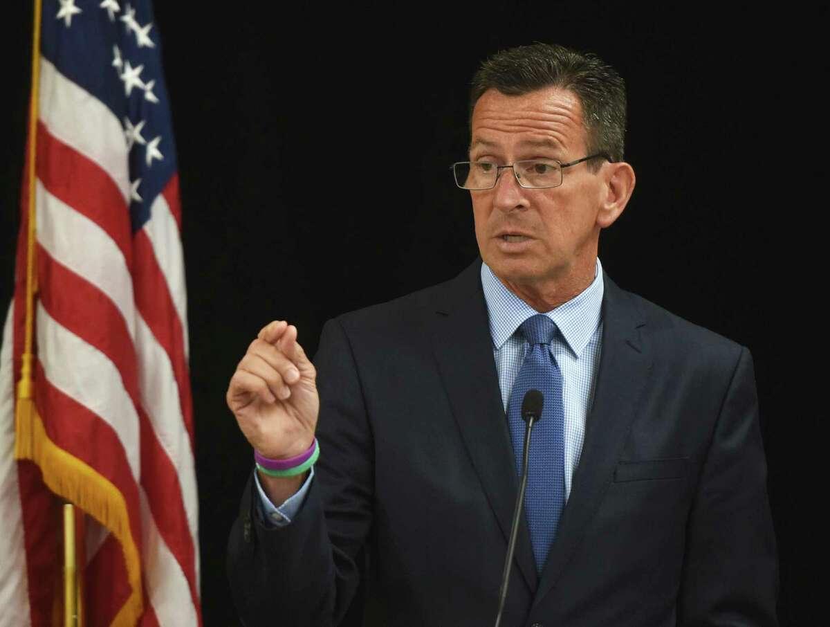Connecticut Gov. Dannel P. Malloy speaks during the Business Council of Fairfield County annual meeting at the Sheraton Stamford Hotel in Stamford, Conn. Wednesday, July 1, 2015.
