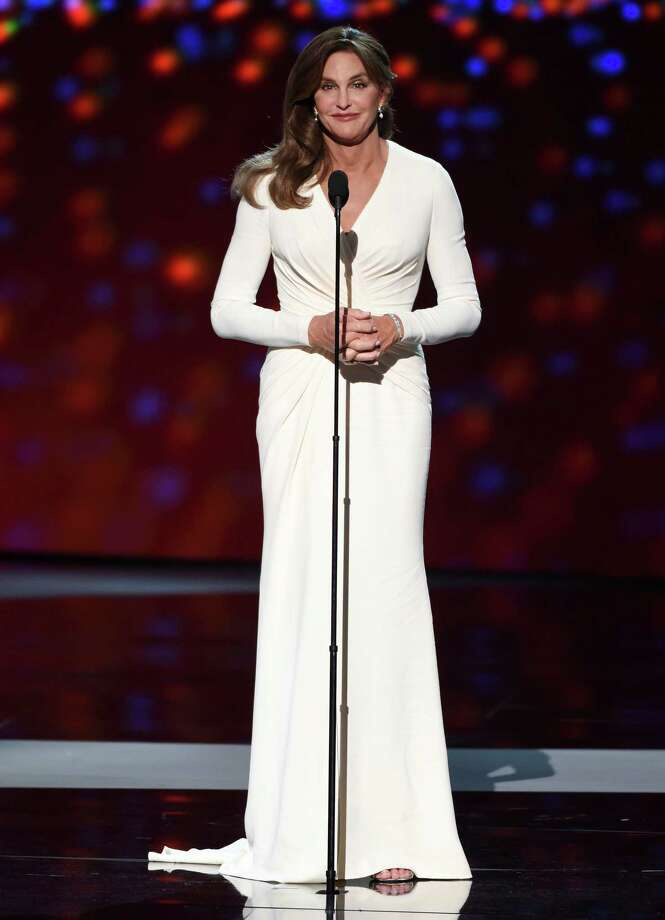 Caitlyn Jenner accepts the Arthur Ashe award for courage at the ESPY Awards at the Microsoft Theater on Wednesday, July 15, 2015, in Los Angeles. (Photo by Chris Pizzello/Invision/AP) ORG XMIT: CAJA270 Photo: Chris Pizzello / Invision