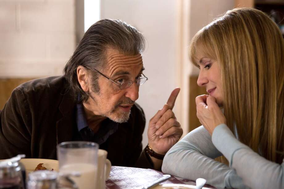 "A.J. Manglehorn (Al Pacino) tries to connect with Dawn (Holly Hunter) in ""Manglehorn."" Photo: Magnolia Pictures / ONLINE_YES"