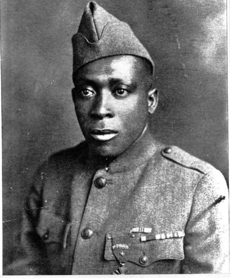 This undated photo provided by the U.S. Army shows Army Pvt. Henry Johnson. Pvt. Johnson was one of two World War I Army heroes on Tuesday June 2, 2015, who finally received the Medal of Honor they may have been denied because of discrimination, nearly 100 years after bravely rescuing comrades on the battlefields of France. (U.S. Army via AP)