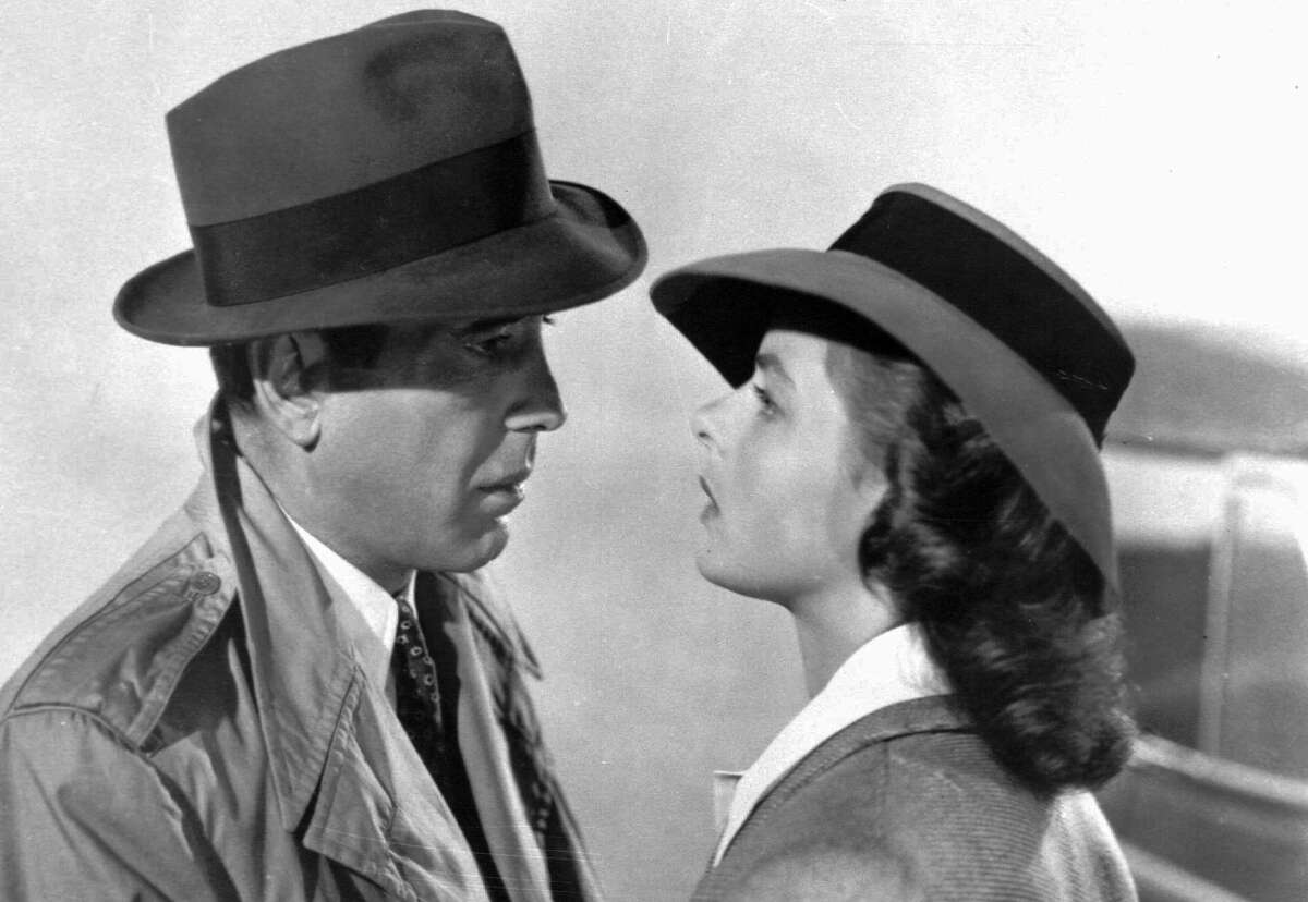 """This photo provided by Warner Bros., shows actors Humphrey Bogart and Ingrid Bergman in a scene from the film """"Casablanca."""" The 1943 movie will be shown at the Newtown Town Hall in Newtown on Sunday, July 19, at 4 and 7 p.m. (AP Photo/Warner Bros.)"""