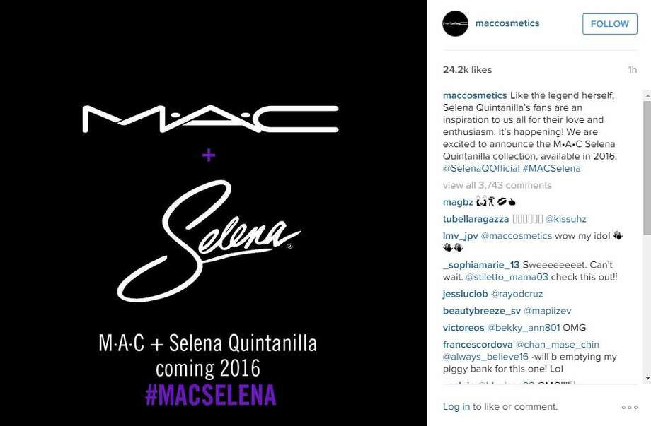 Almost 40,000 signatures on an online petition earned the attention of M-A-C Cosmetics, who announced Thursday a line of makeup honoring Tejano's late queen, Selena Quintanilla-Perez, will be released in 2016.