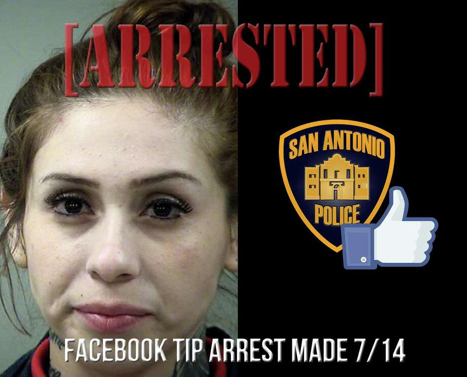 Lillie Garza was arrested Tuesday due to a tip given to police on Facebook. Photo: San Antonio Police Department
