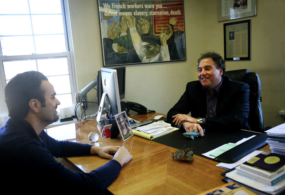 Jeffrey Warshaw, right, reached a deal with Perot Cos. to back a management-led buyout of Connoisseur Media, the Westport, Conn. company Warshaw created that owns radio stations in a dozen markets including its home turf of Fairfield County. Photo: Brian A. Pounds / Brian A. Pounds / Connecticut Post