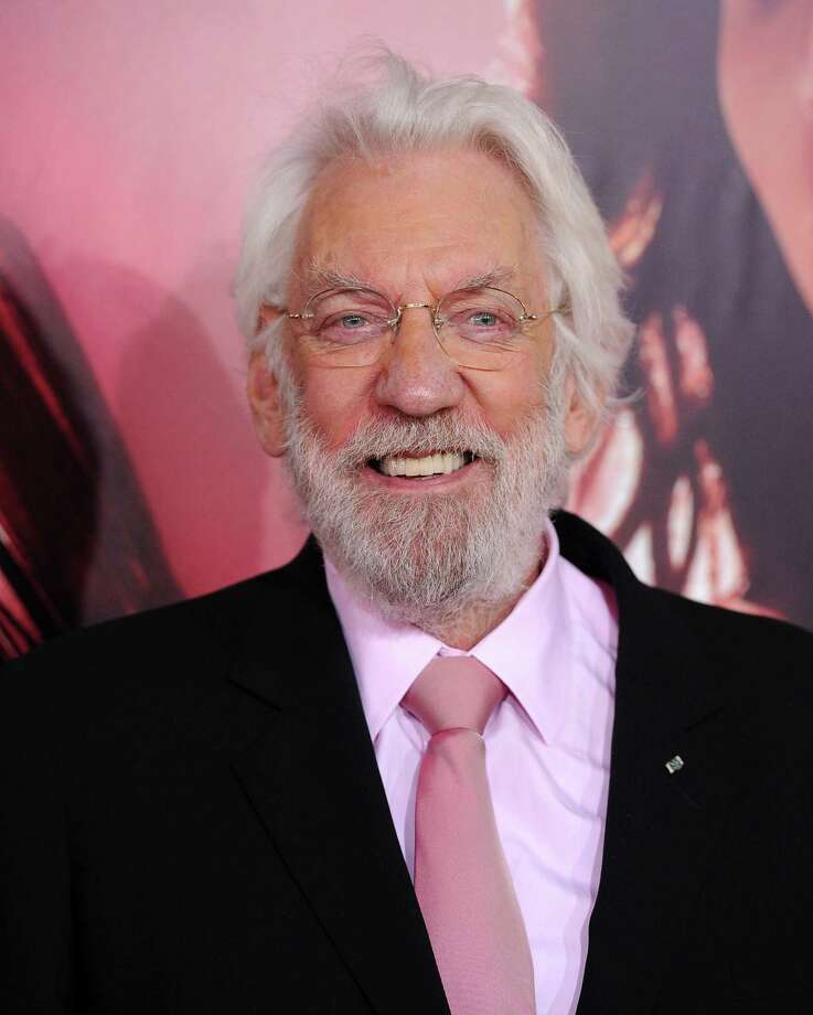 LOS ANGELES, CA - NOVEMBER 18:  Actor Donald Sutherland arrives at the Los Angeles Premiere of 'The Hunger Games: Catching Fire' at Nokia Theatre L.A. Live on November 18, 2013 in Los Angeles, California.  (Photo by Axelle/Bauer-Griffin/FilmMagic) Photo: Axelle/Bauer-Griffin / 2013 Axelle/Bauer-Griffin