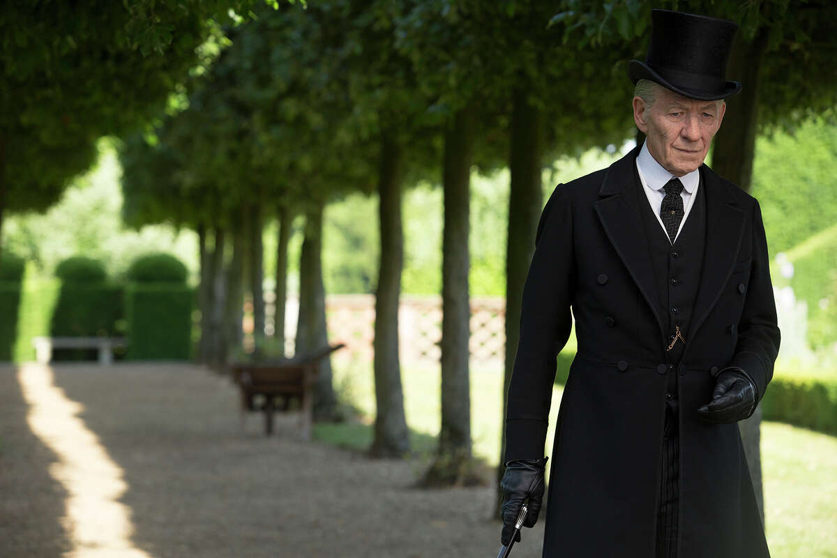 """Ian McKellen plays the elderly detective in ?""""Mr. Holmes.?"""" Illustrates FILM-MRHOLMES-ADV17 (category e), by Stephanie Merry © 2015, The Washington Post. Moved Wednesday, July 15, 2015. (MUST CREDIT: Giles Keyte/Miramax/Roadside Attractions.)"""