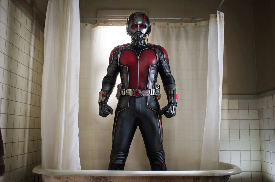 "But it's definitely not a small part: Paul Rudd stars as a reformed  thief in Marvel's ""Ant-Man."" When he puts on the suit, his body shrinks but his strength increases. Illustrates KIDSPOST-MOVIES (category l), by Christina Barron, (c) 2015, The Washington Post. Moved Tuesday, June 02, 2015. (MUST CREDIT: Zade Rosenthal/Marvel/Walt Disney Pictures.) Photo: Zade Rosenthal/Marvel/Walt Disney Pictures / THE WASHINGTON POST"