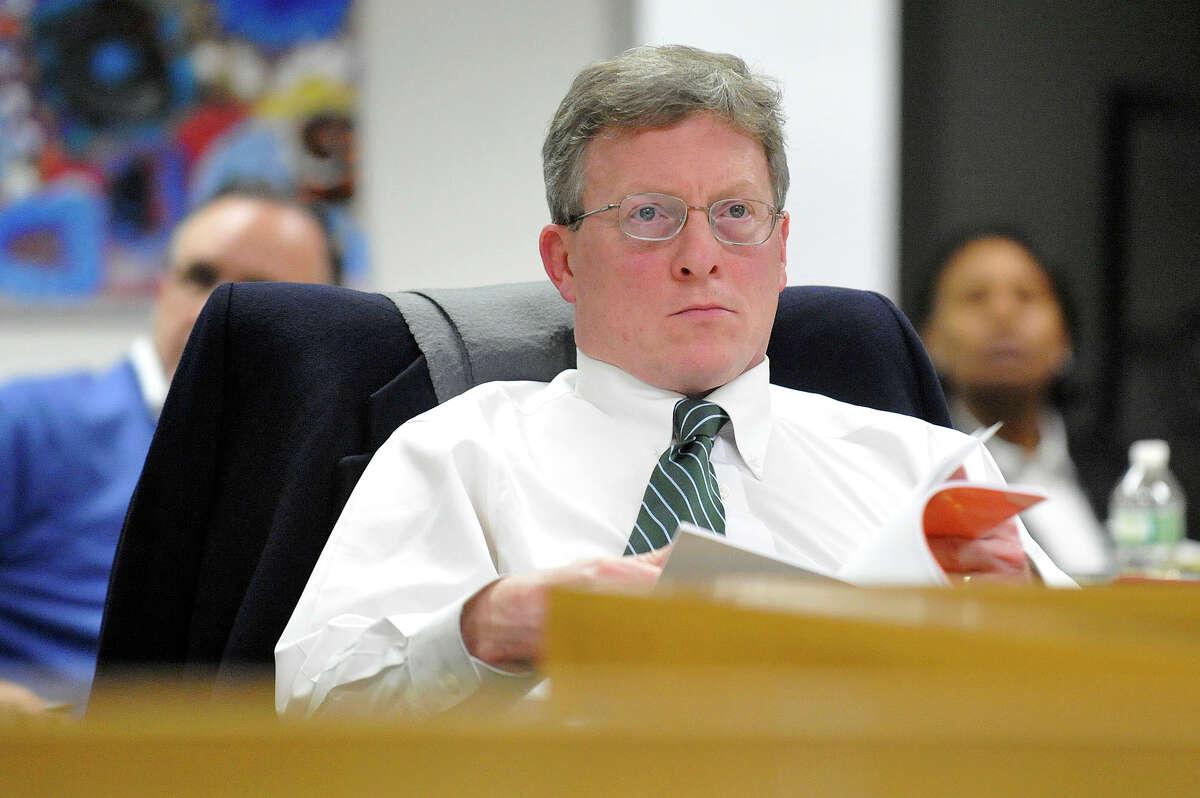 John Leydon Jr., the Stamford school board's assistant secretary, resigned from his seat last week.