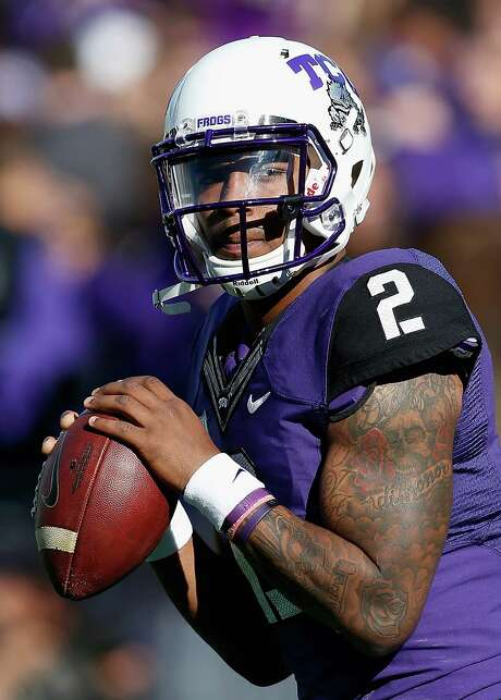Quarterback Trevone Boykin of the TCU Horned Frogs warms up before the game against the Iowa State Cyclones at Amon G. Carter Stadium on Dec. 6, 2014 in Fort Worth. Photo: Christian Petersen /Getty Images / 2014 Getty Images