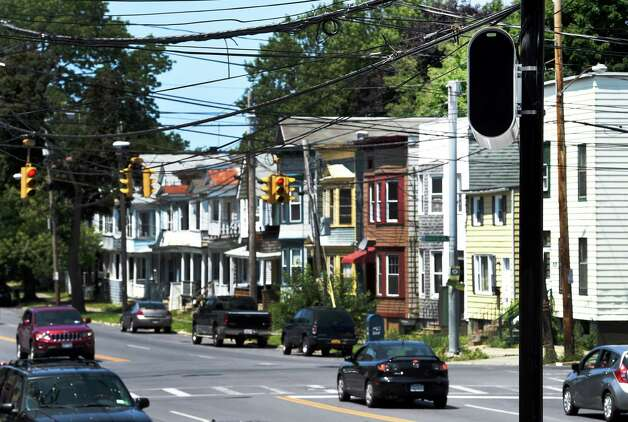 A red-light camera that looks in to the intersection of Quail Street and Washington Avenue Thursday afternoon, July 16, 2015, in Albany, N.Y. Two intersections selected to receive red light cameras in the city of Albany will be going live on Monday morning after midnight. (Skip Dickstein/Times Union) Photo: SKIP DICKSTEIN / 00032626A