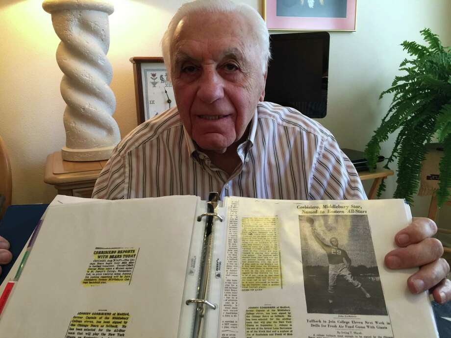 Local retiree John Corbisiero, 88, was a multisport star growing up in suburban Boston. He signed NFL and MLB contracts and tried out for the 1952 U.S. Olympic ice hockey team before joining the Air Force and retiring with the rank of colonel. Photo: Roy Bragg /San Antonio Express-News
