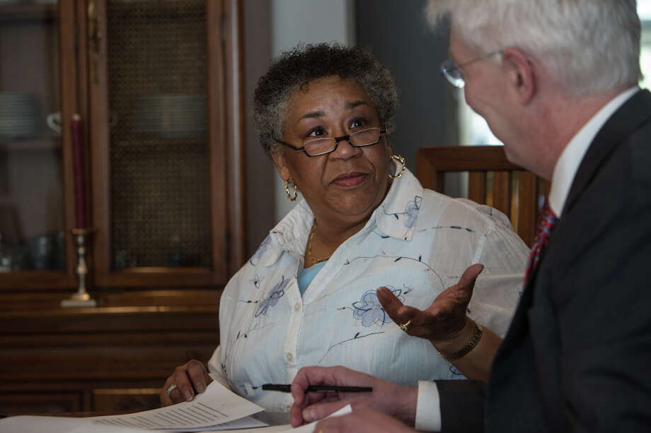 Mary Grice, shown with her attorney, Robert Vogel, never received notice of a debt when her tax refunds from the IRS and the state of Maryland were intercepted by the U.S. government. Photo: Washington Post File Photo / Evelyn Hockstein