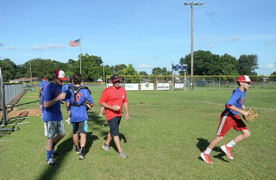 Beaumont's West End Junior League baseball team takes the field for practice Thursday in preparation for their run at the state championship in Tyler this weekend.