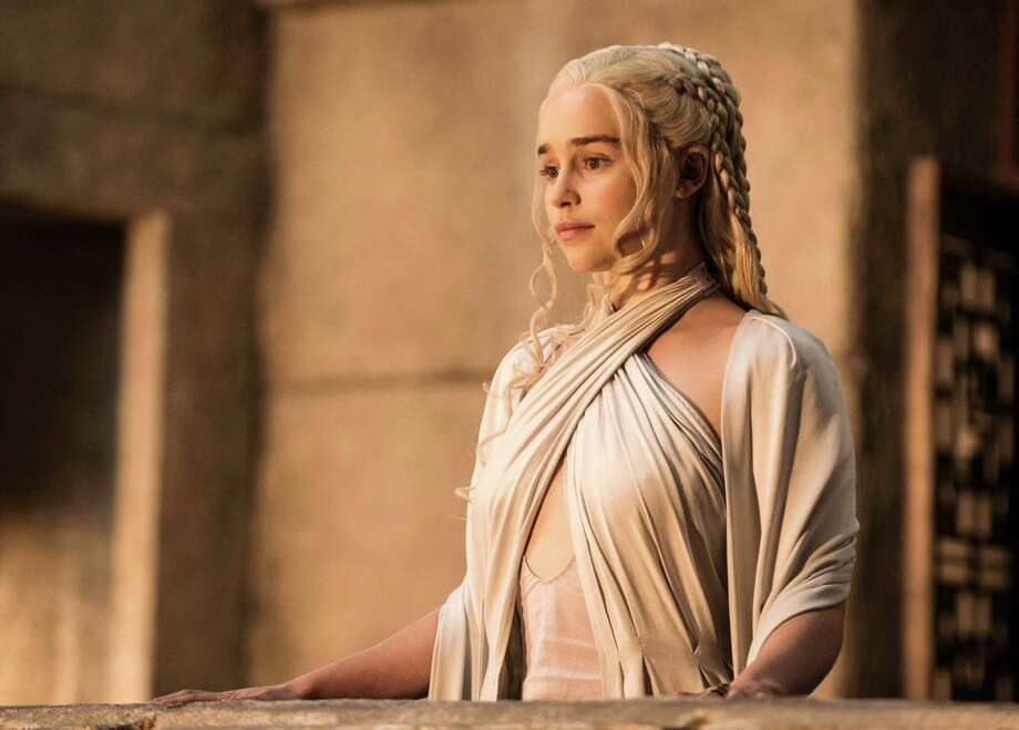 "Emilia Clarke appears in a scene from ""Game of Thrones."" Clarke was nominated for an Emmy Award for outstanding supporting actress in a drama series for her role on the show. Photo: Helen Sloane /HBO / HBO"